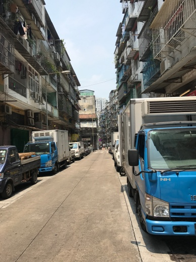 Narrow Streets with lots of wires